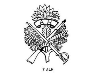 7th Light Horse Regiment (Australia) - 7th Light Horse Regiment hat badge
