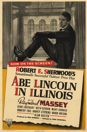 Abe Lincoln in Illinois (film) - Theatrical release poster