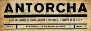 Antorcha (Las Palmas) - Image: Antorcha (Las Palmas) head, 1935, no 12