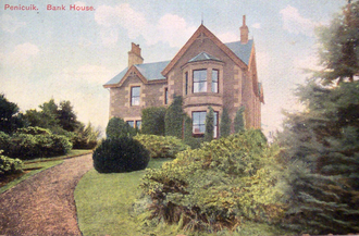 S. R. Crockett - Bank House, Penicuik: the property was occupied by Crockett around 1886 and J. M. Barrie often stayed with him there