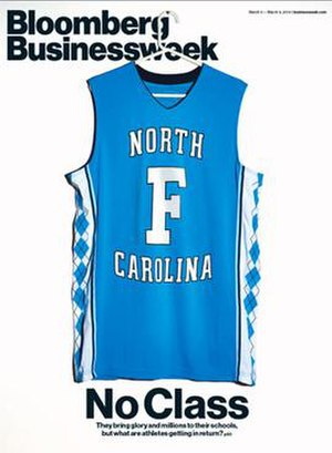 University of North Carolina academic-athletic scandal - The March 3, 2014 Bloomberg BusinessWeek magazine had a cover story by Paul M. Barrett alleging academic improprieties by the University of North Carolina at Chapel Hill regarding student-athletes.