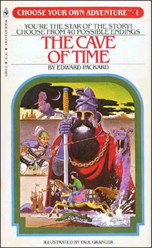 Choose Your Own Adventure - The Cave of Time by Edward Packard, the first book in the series