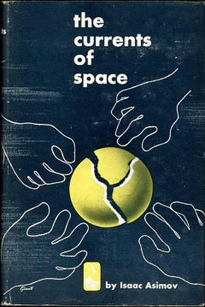 The Currents of Space - Dust-jacket illustration from the first edition