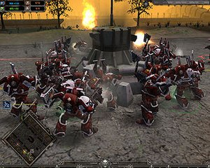 Space marines warhammer 40000 wikivisually warhammer 40000 dawn of war dark crusade khorne berzerkers attacking an imperial guard fandeluxe Choice Image