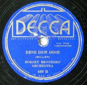 Dese Dem Dose -  1935 Decca 78, 469B.