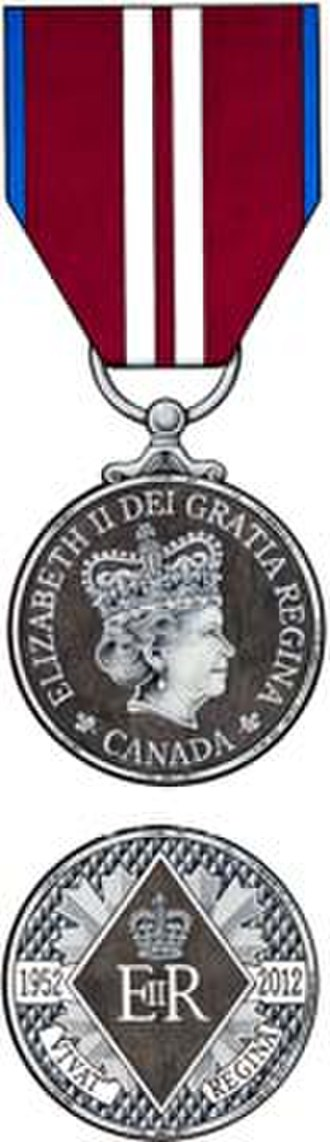 Queen Elizabeth II Diamond Jubilee Medal - The Original approved painting of the Canadian Diamond Jubilee Medal