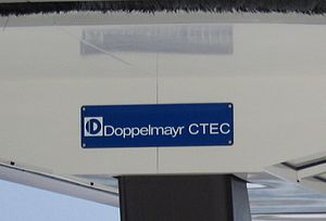 Doppelmayr USA - The former Doppelmayr CTEC logo as seen on a lift.