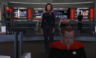 Star Trek: Voyager – Elite Force - The main cast of Voyager and several sets from the TV series, such as the bridge and engineering, were recreated in Elite Force.