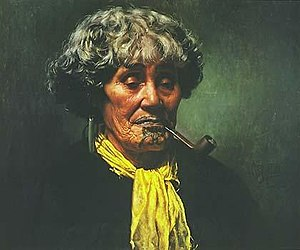 C. F. Goldie - An oil portrait of Ina Te Papatahi by Goldie (1902).