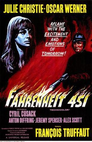 Fahrenheit 451 (film) - Theatrical release poster