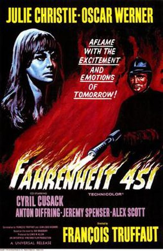 Fahrenheit 451 (film) - Theatrical release poster