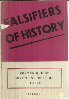 <i>Falsifiers of History</i> book published by the Soviet Information Bureau