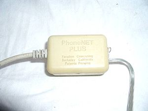 AppleTalk - Farallon PhoneNET adapter.