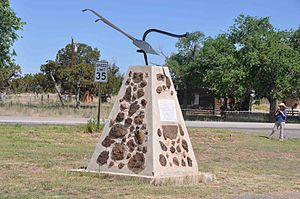 Fence Lake, New Mexico - In front of the old school building
