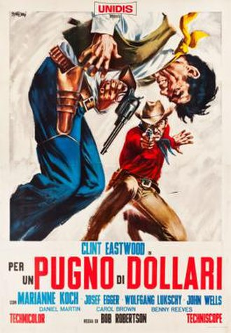 A Fistful of Dollars - Italian theatrical release poster