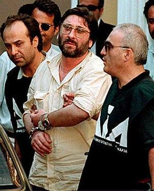 Francesco Schiavone - Schiavone at his arrest in July 1998