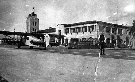 Glendale's Grand Central Air Terminal was featured in Sky Giant, as well as in many other films of the era.