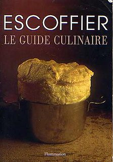 <i>Le guide culinaire</i> book by Auguste Escoffier