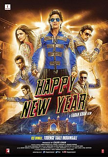 <i>Happy New Year</i> (2014 film) 2014 Bollywood action comedy-drama film directed by Farah Khan