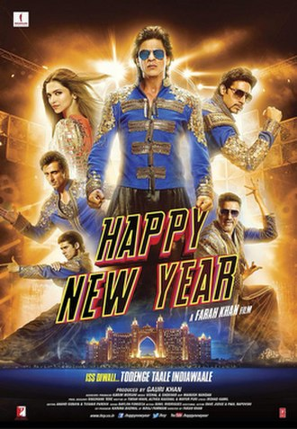 Happy New Year (2014 film) - Theatrical release poster