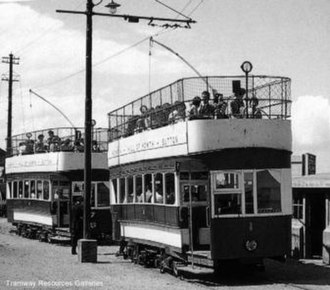 Hill of Howth Tramway - Trams at Howth railway station