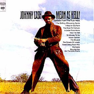 Sings the Ballads of the True West - Image: Johnny Cash Meanas Hell