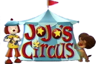 JoJo's Circus - The opening logo with JoJo (left) and her pet lion Goliath (right)