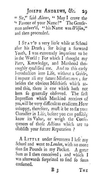 joseph andrews as a picaresque novel The picaresque novel being epical in  henry fielding's tom jones as a picaresque novel:  jones as he does in joseph andrews that it is written with the.