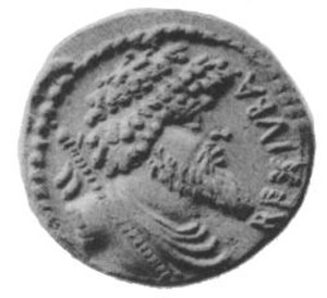 Juba I of Numidia - Coin portraying Juba I