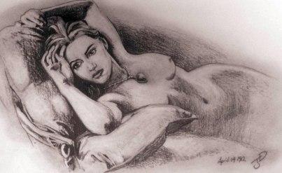 Kate-winslet titanic movie pencil-drawing