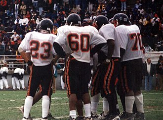 Baltimore City College football - The Knights on defense vs. Poly, 1994