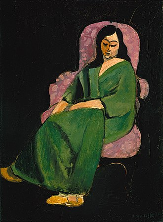 The Painter and His Model - Image: Laurette in a green robe