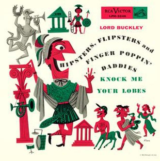 Lord Buckley - Lord Buckley LP cover designed by Jim Flora, 1955