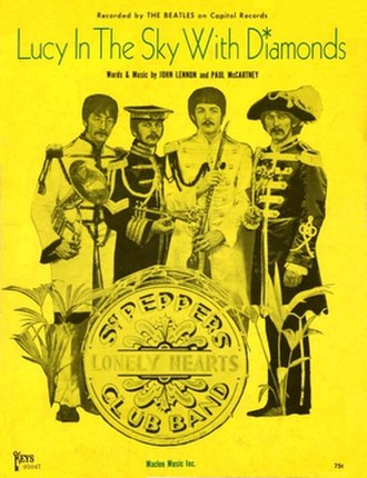Lucy in the Sky with Diamonds - Image: Lucy in the Sky with Diamonds US sheet music cover