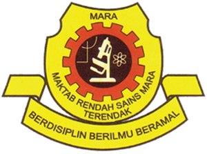 Maktab Rendah Sains MARA - MRSM Terendak coat of arms in Malacca