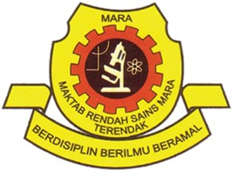 Maktab Rendah Sains MARA - MRSM Terendak coat of arms in Malacca