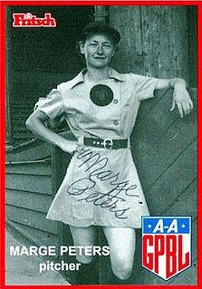 Marjorie Peters All-American Girls Professional Baseball League player