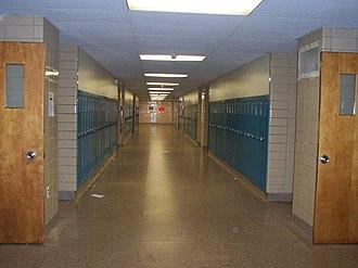 Mater Dei High School (New Jersey) - A hallway at Mater Dei Prep High School