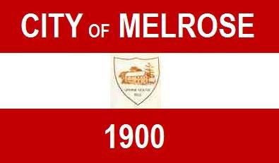 Flag of Melrose, Massachusetts