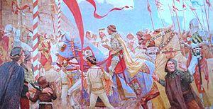 "Stefan Dušan - ""Wedding of Emperor Dušan"", by Paja Jovanović"