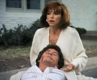 Pam Ewing - In a dream, Pam (Victoria Principal) clutches Bobby after he was hit by a car.