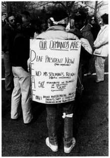 Deaf President Now 1988 student protest at Gallaudet University