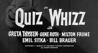 <i>Quiz Whizz</i> 1958 film by Jules White