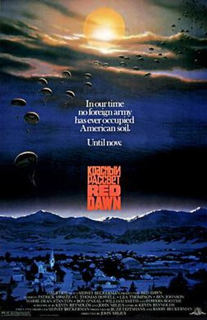 Red Dawn - Original theatrical poster by John Alvin