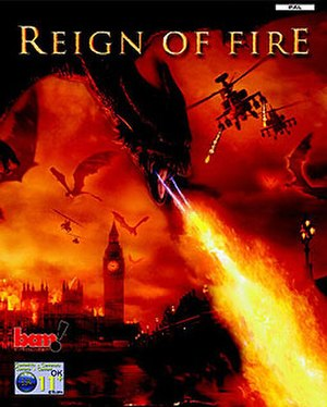 Reign of Fire (film) - PAL region cover art.