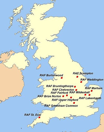 Air Force Bases In England Map.Strategic Air Command In The United Kingdom Wikipedia