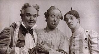 Tom Shale - Tom Shale, George Robey and Barry Lupino in Jack and the Beanstalk c.1920
