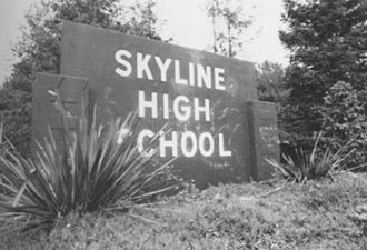 Skyline High School (Oakland, California) - Skyline High School entrance, 2009