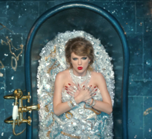 Look What You Made Me Do - The bathtub scene in the music video, where the diamonds were authentic and worth over $10 million.