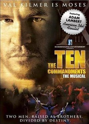 The Ten Commandments: The Musical - DVD Cover of World Premiere Production Starring Adam Lambert and Val Kilmer
